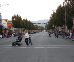 Crowds lined San Benito Street
