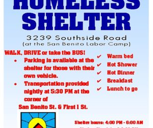 Homeless Shelter flyer
