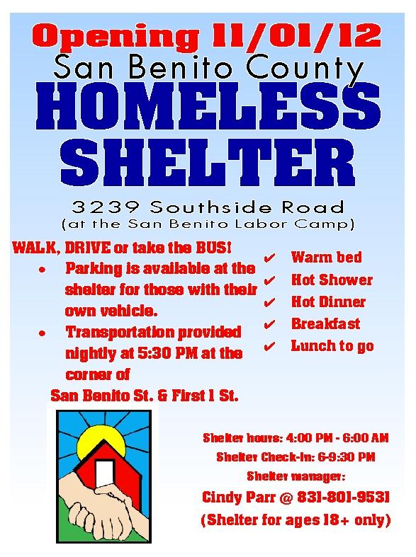 Homeless Shelter flyer