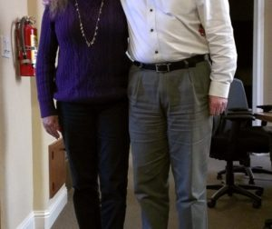 Emmaus House Executive Director Patrice Kuerschner and Gary Byrne, CEO of the Community Foundation for San Benito County