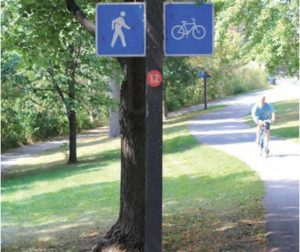 biking paths are part of the River Parkway Project