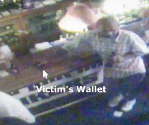 Suspect on video surveillance