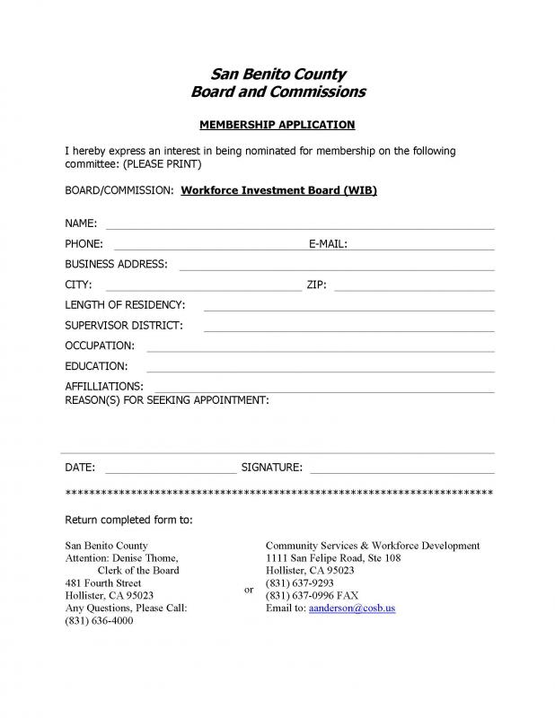 WIB Membership Application