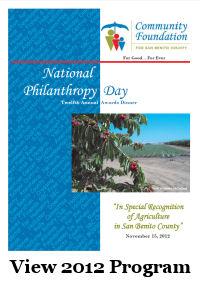 graphic of 2012 Philanthropy Day Program