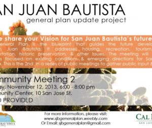 flier for Community meeting
