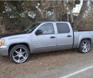 photo of suspect's vehicle