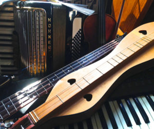 photo of musical instruments by Bob Reid