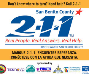 2-1-1 San Benito County, Free Information and Referral Service is Here