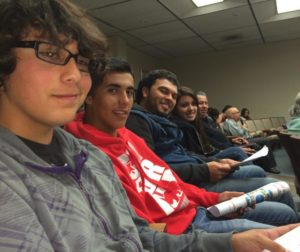 Youth Alliance advocates at council meeting.