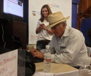 Photo by Bob Reid. San Benito County resident John Eade registers on BenitoLink