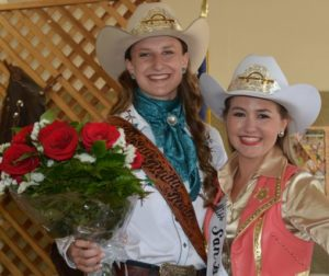 Bailee Nelson, Miss San Benito County Rodeo 2014 (at left) with Annie Tobias, the 2013 queen.