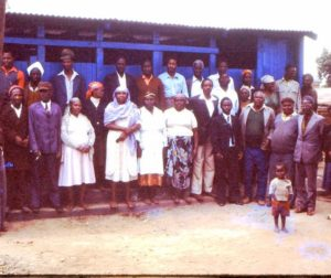 Villagers who built the latrine project in the Mathare Valley. Courtesy of Rev. Havens and his wife Lani.