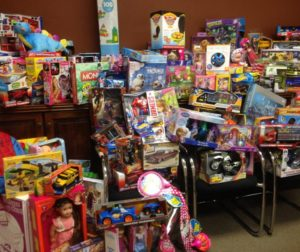 Toys donated by the Impalas Car Club