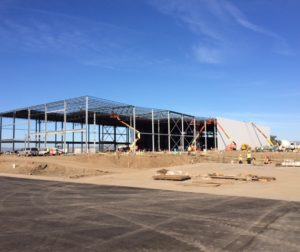 The new agricutural processing plant in Hollister, expected to begin production in August, takes shape. (Photo provided by the Chiala family