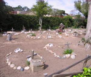 The indigenous cemetery at the Carmel Mission.