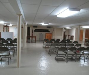 The basement of the First Baptist Church where Dr. Quinn and other physicians treated the injured. Courtesy of Mr. Quinn.