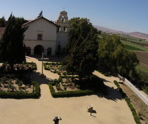 File photo by Kyle Lawton shows aerial view of Mission San Juan Bautista