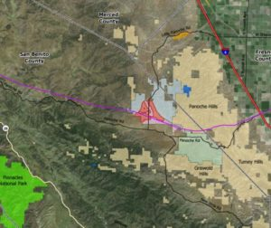 Public graphic shows revised area for project in red.