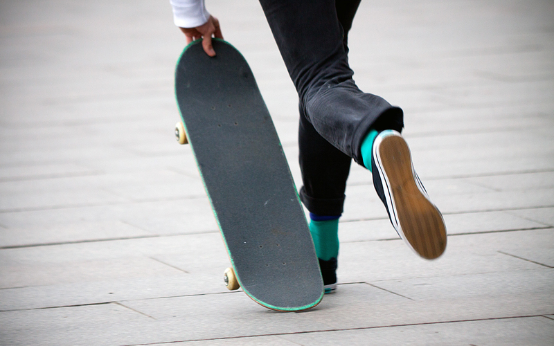 File image by Flickr user Stig Nygaard shows skateboarder.