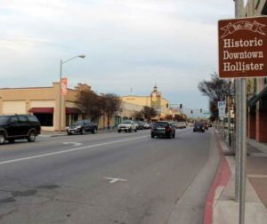 Image by Jason McCormick shows downtown Hollister, including San Benito Street in the distance.
