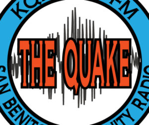 "Logo of KQKE's project, ""The Quake,"" a San Benito County radio station tuned for 97.5 FM,"