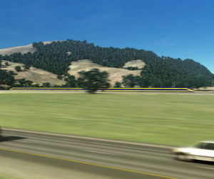 Image of Pacheco Pass Section of proposed High Speed Rail. Photo courtesy High Speed Rail Authority.