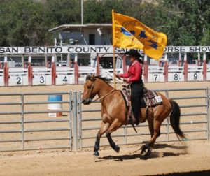 Contestant Valerie Costanza during horsemanship portion of contest.
