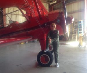 Vicky Benzing and her 1940 Boeing Stearman