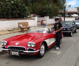Bob Picha of Hollister beside his '59 Chevy Corvette. Picha took 2nd place in the classic division.