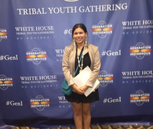 Julisa Lopez at the first-ever White House Tribal Youth Gathering on July 9. Photo courtesy of Julisa Lopez.