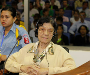 Ieng Thirith in 2010. Photo courtesy of Heng Sinith of the Associated Press.
