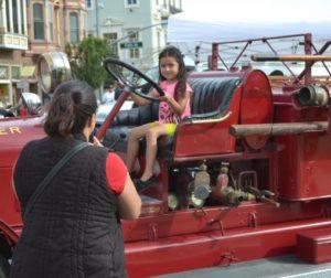 Fire truck photo op.