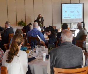Kristina Chavez Wyatt, executive director of the business council, kicked off the water forum.