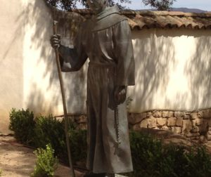 Statue of Fr. Junipero Serra at Mission San Juan Bautista. Photo by Frank Perez.