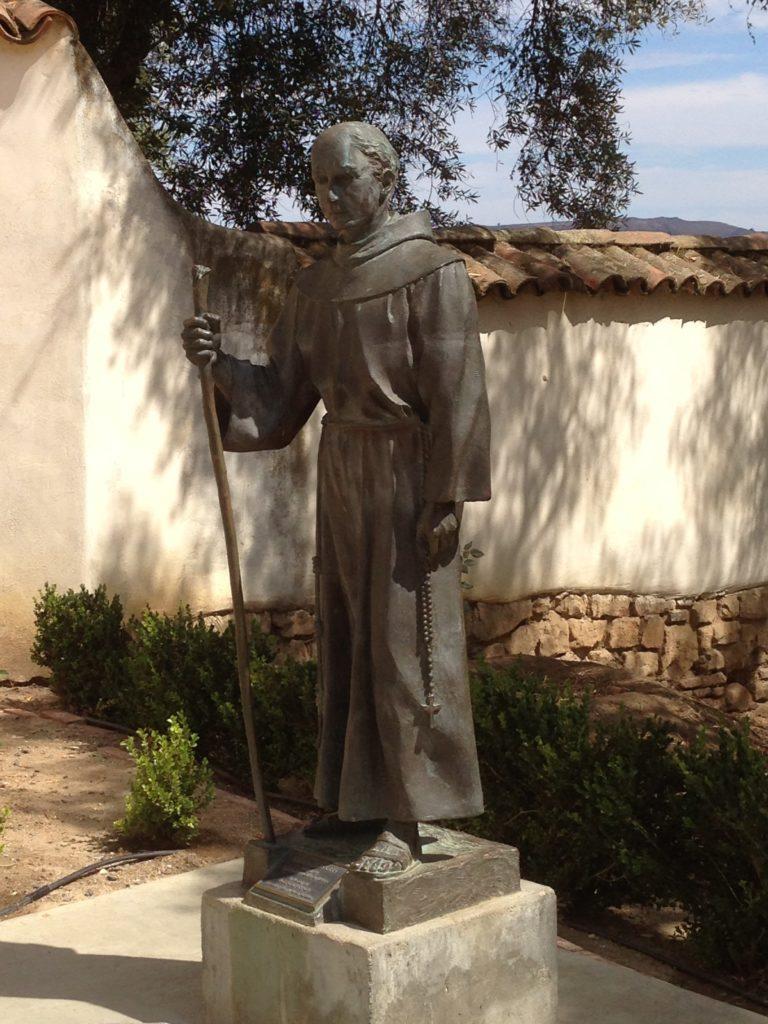 Statue of Fr. Junipero Serra at Mission San Juan Bautista. Photo by Frank Perez.