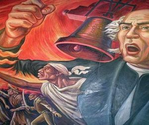 Father Miguel Hidalgo ushering in the fight for Mexico's independence. Courtesy of banderanews.com.