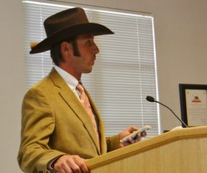 JC Roddy spoke during the public comments portion of supervisors meeting.