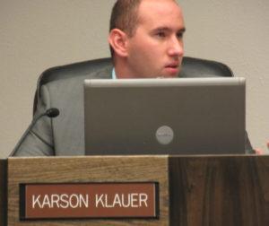 City Council member Karson Klauer