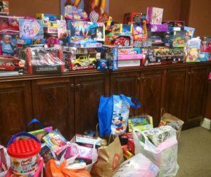 Toys donated by the Impalas Central Coast Car Club