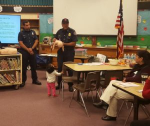 Hollister firefighters coordinated with First 5 San Benito to deliver message on home safety.