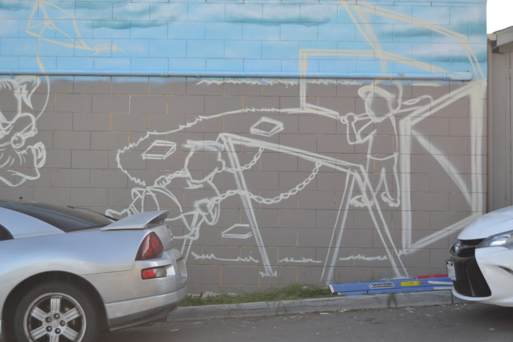 Local artists created a mural near Park Hill over the weekend. Photos by Laura Romero