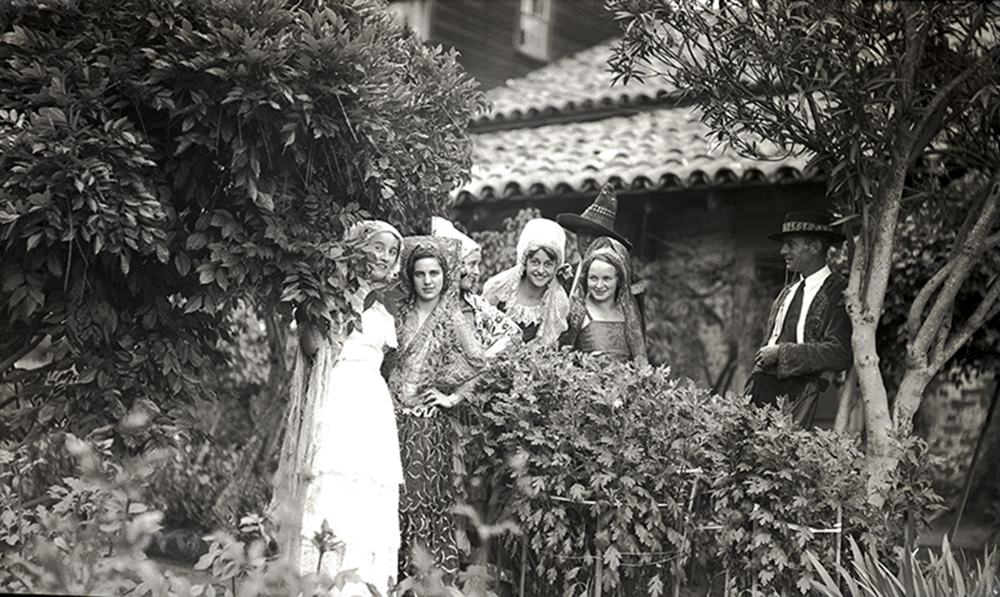 Unknown, local Mission Pageant participants, circa 1930s. Photo courtesy of San Juan Bautista Historical Society Archives.