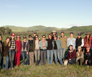 Women in Ranching group at the Paicines Ranch, Paicines, Calif.