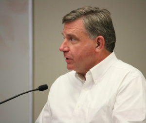 Joe Ririe, of Pavement Engineering, reported condition of city's roads.