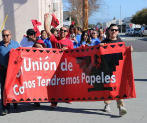 The march was part politics, part honorary recognition for activist César Chávez.