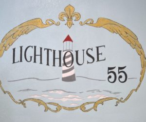 Lighthouse 55 Wall Mural Located inside the Bakery