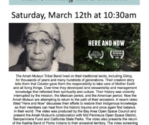 "Flyer for the screening of ""Here and Now."" Courtesy of Bay Area Open Space Council."