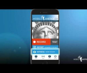 California ACLU Mobile Justice app for public safety.