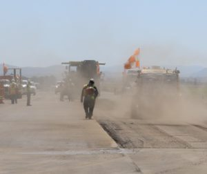 Two sections of runway being repaired using two different federal grants.
