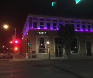 The Vault on San Benito Street goes purple in memory of Prince.